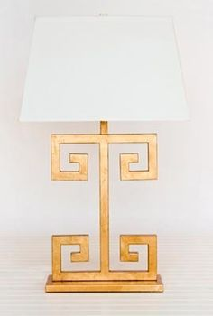 Greek Key lamp.