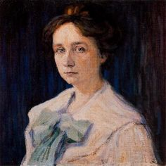 Gabriele Münter (1905)  Huile sur toile (45 x 45)  Wassily Kandinsky