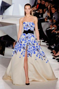 Blue for Giambattista Valli