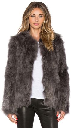 EAVES Fox Fur Helen Jacket