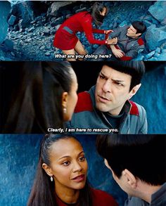 Uhura and Spock <3