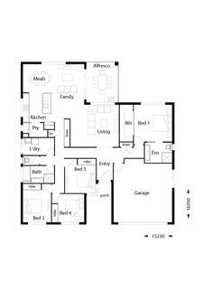 Infinity 217 - Hallmark Homes Free House Plans, Family House Plans, Modern House Plans, Build Your Own House, Build Your Dream Home, First Home Owners, Double Storey House, Flat Roof House, Hallmark Homes