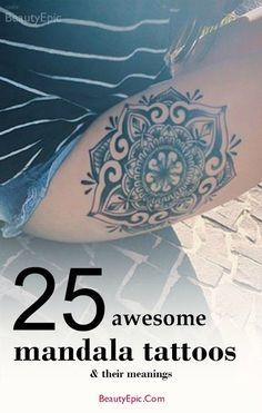 25 Awesome Mandala Tattoo Designs