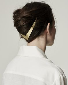 Lelet NY Trek metal halo - gold v hair updo ornament