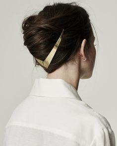 Lelet NY Trek metal halo - gold v hair updo ornament