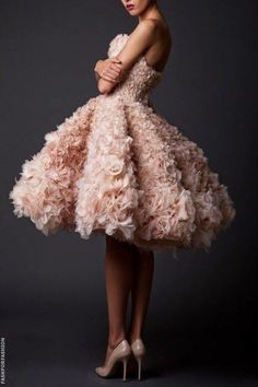 PINK FRILLS - would make an extravagant bridesmaid dress or 2nd Prom!