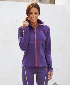 Kari Traa Fleecejakke fra Sportmann.no Athletic, Zip, Jackets, Fashion, Down Jackets, Moda, Athlete, Fashion Styles, Deporte