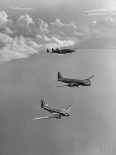 Eastern Airlines Fleet of Planes Including a Constellation, a Douglas Dc4 and a Douglas 3