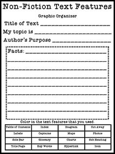 Guided Reading Nonfiction Text Feature FREEBIE!