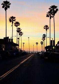 Beautiful Sunset at Venice Beach, California
