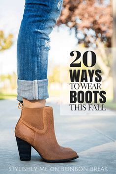 I don't have ankle boots.not totally sure how to wear them. 20 Ways to Wear Boots - we love all of these cute boot fashion combinations to make great Fall outfits complete Moda Fashion, Womens Fashion, Fashion Tips, Fashion Trends, Trendy Fashion, Trendy Clothing, Clothing Stores, Latest Fashion, Fall Winter Outfits