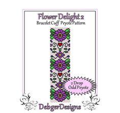 Bead Pattern Peyote(Bracelet Cuff)-Flower Delight 2