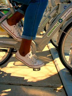 Don't have a bike? No sweat! Rent a B-Cycle from one of the stations downtown! // Greenville SC
