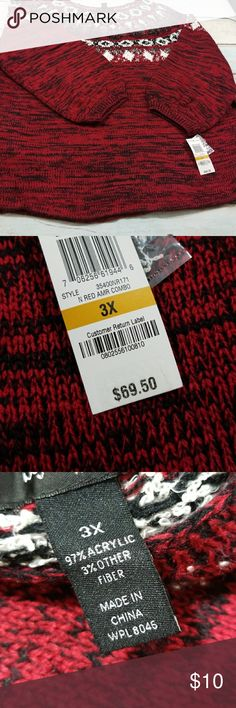 """Style & co woman sweater retails $69.50 Size 3x   See photos for details  Bust: 25""""  Height 27"""" Style & Co Sweaters"""