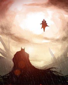 "10.1k Likes, 12 Comments - NoMoreMutants (@nomoremutants) on Instagram: ""The Last Son of Krypton vs The Bat of Gotham Xavier Cuenca art Download this image at…"""