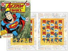 Superman Action DC Comics Collectible Postage Stamps Australia
