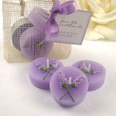 lavander flower tea light candles