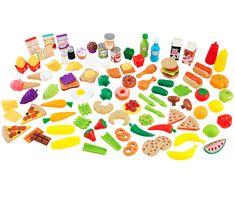 Amazon.com: KidKraft Tasty Treats Play Food Set: Toys & Games