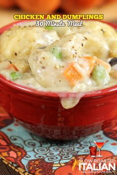 Chicken and Dumplings in 30 Minutes #chicken #recipes