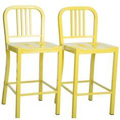 Metal Lemon Counter Stools (Set of 2) | Overstock.com Shopping - The Best Deals on Bar Stools