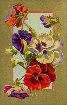 AMARNA IMAGENS: FLORES VINTAGE - Imagens para decoupage - Servem também como cartões postais.