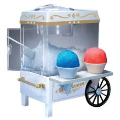 snow cone maker... cheap and good reviews from Target