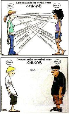 Lección básica de lenguaje no verbal. Ellas y ellos. #comunic... on Twitpic