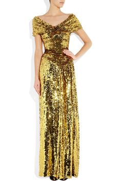 Vivienne Westwood Gold Label Long Glazing Metallic Sequined Gown in Gold   Lyst