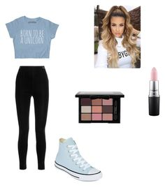 """""""Dance"""" by emilylivingston-1 ❤ liked on Polyvore featuring Balmain, Converse and MAC Cosmetics"""