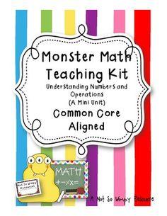 Monster Math Teaching Kit: Common Core Aligned Mini Unit(n