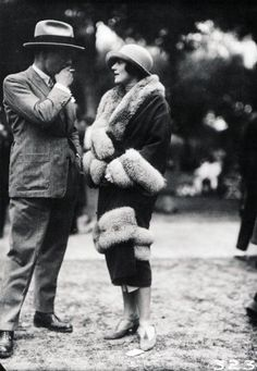 Elegance in the 1920's. Fashion was really glamorous.
