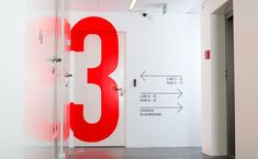"""""""betype:  Signage and Wayfinding For Innovation Center by Claan   """""""