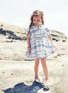 Nellystella Wren Dress in Blue Check//
