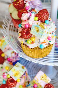 Unicorn Cupcakes via Bakers Royale