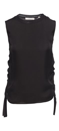 Vince Ruched Rib Shell Tank in Black / Manage Products / Catalog / Magento Admin
