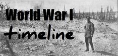 World War One timeline for kids