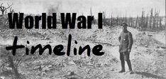 World War One timeline for kids