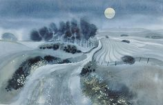 """Ronald Maddox Ink and watercolour, """"Clair de Lune"""""""