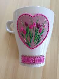 Resultado de imagem para Barbie mug and spoon fimo