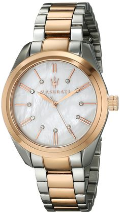 Maserati Women's R8853112503 Analog Display Quartz Two Tone Watch