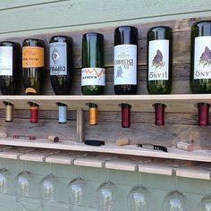 Simplistic- Reclaimed wood wine rack from   (del)HutsonDesigns
