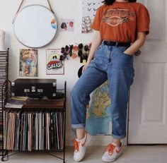 32 Super Ideas for wall street fashion girls #fashion #wall Casual Hipster Outfits, Indie Outfits, Edgy Outfits, Girl Outfits, Rock Outfits, Casual Clothes, Vintage Outfits, Retro Outfits, 80s Fashion