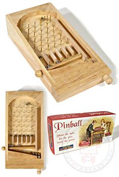 English Wooden Pinball Game