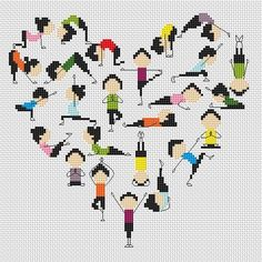 Yoga -cross stitch pattern