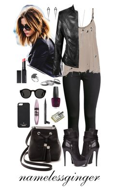 cold as you by namelessginger on Polyvore featuring polyvore fashion style Raquel Allegra H&M Giuseppe Zanotti Tory Burch Iosselliani John Hardy The Limited Eva Fehren Kate Spade Mykita Witchery Chanel OPI Maybelline M-Clip clothing