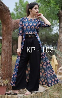 Stylish Kurti Plazzo With Tussles Upper Cotton Bottom Rayon Size 36 38 40 42 44 For details Msg on messenger or whatsapp Fashion womenkurti Suits plazzo is part of Cotton kurti designs - Stylish Kurtis Design, Stylish Dress Designs, Kurta Designs Women, Blouse Designs, Kurta Neck Design, Hippy Chic, Stylish Dresses For Girls, Kurti Designs Party Wear, Dress Indian Style