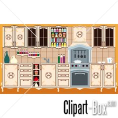 CLIPART OLD KITCHEN