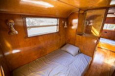 Bedroom in the hallway will be transformed into a bathroom. #spartanimperialmansion #spartantrailer #airstream #notanairstream #vintagetrailer #democomingsoon #beforepic #renovation #tinyhouse #tinyhouseonwheels