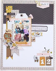#papercrafting #scrapbook #layout idea: Hello Fall Memories