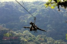 Do the Aventura Canopy Tour in Monteverde Costa Rica and ride the longest zipline in Latin America, Superman style. Terrifying to glide over the top of the cloud forest canopy but a brilliant experience.